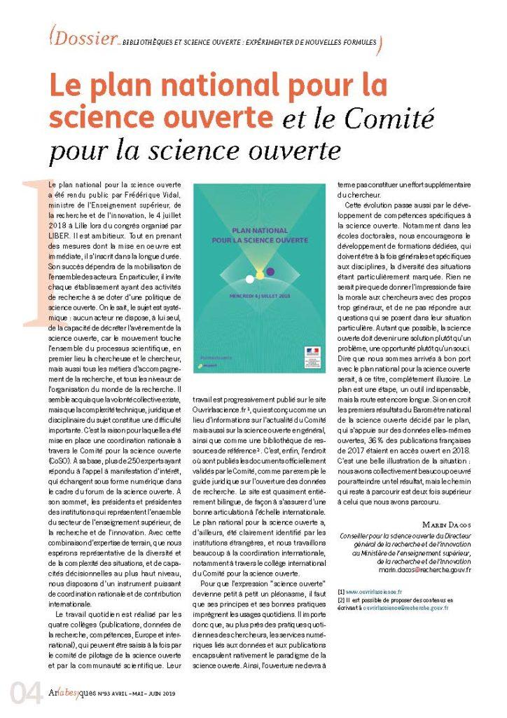 Marin Dacos - La science ouverte et le Comité pour la science ouverte